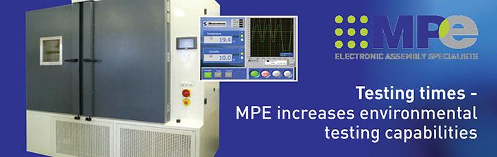 Testing times - MPE increases environmental testing capabilities